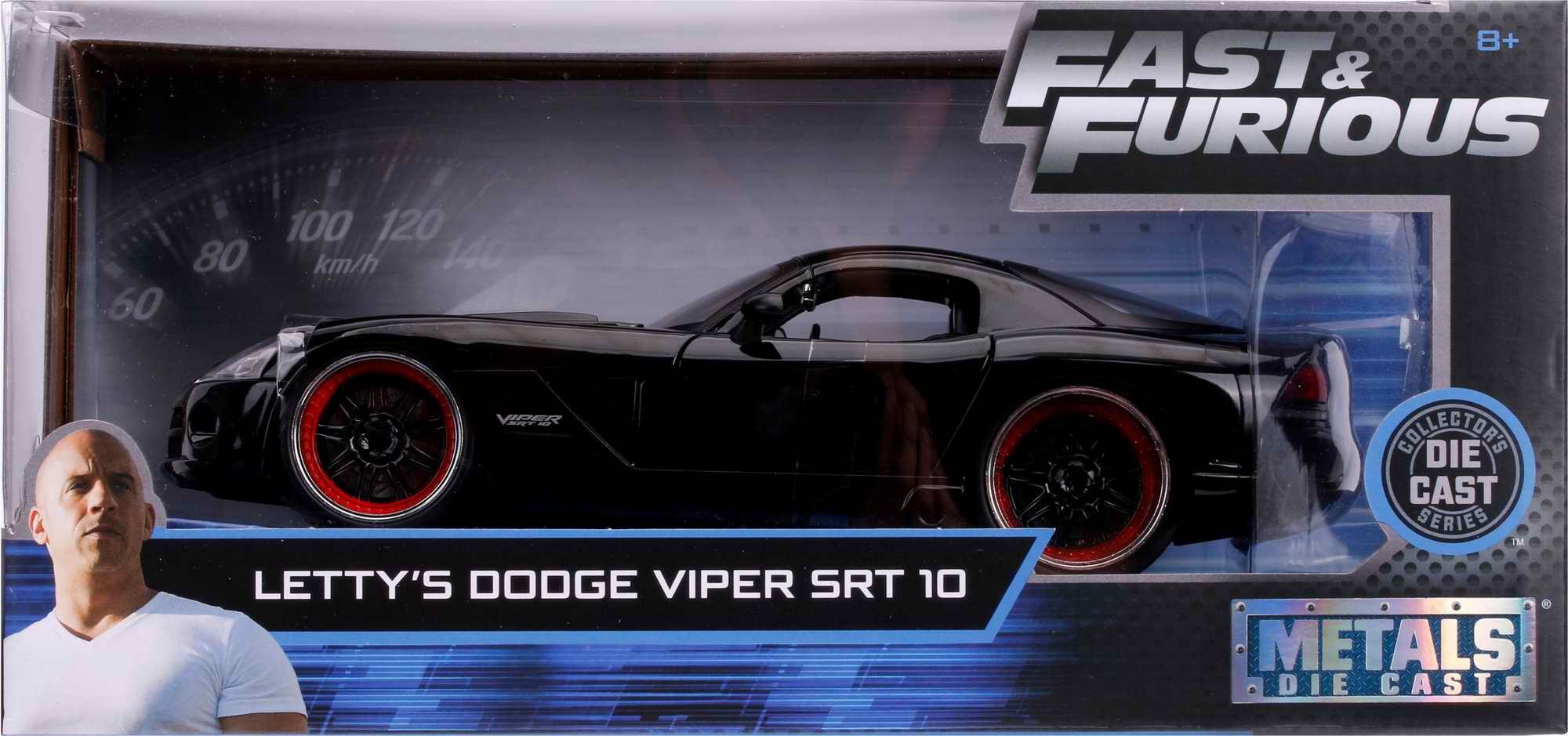 DODGE VIPER SRT-10 2003 FAST AND FURIOUS 7 LETTY 1/24 Voiture de Collection au 1/24