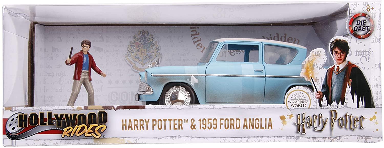 FORD ANGLIA 1959 AVEC FIGURINE HARRY POTTER Voiture de Collection 1/24