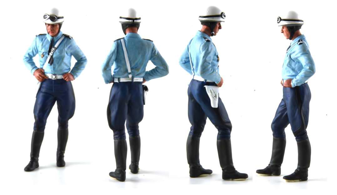 Figurine Michel Motard POLICE NATIONALE Policer moto 1975 1980
