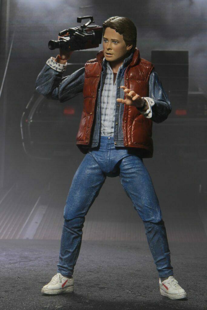 Figurine Marty skateboard walkman McFly film Retour vers le Futur I