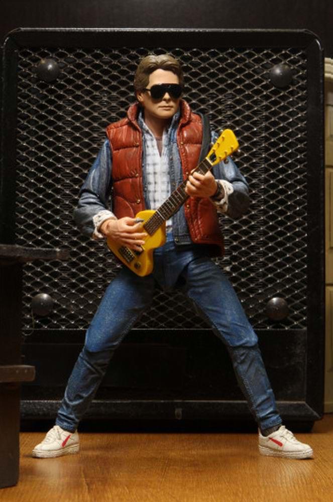 Figurine Marty McFly guitare film Retour vers le Futur 1