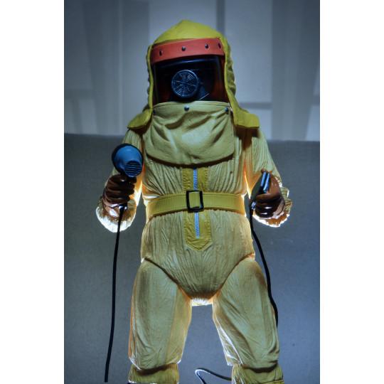 Figurine Marty McFly Combinaison jaune Spatiale AntiRadiation film Retour vers le Futur 1