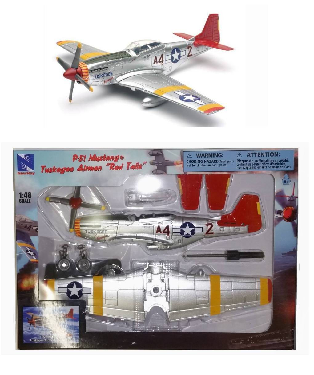 Maquette P-51D Mustang Tuskegee Red Tail jouet