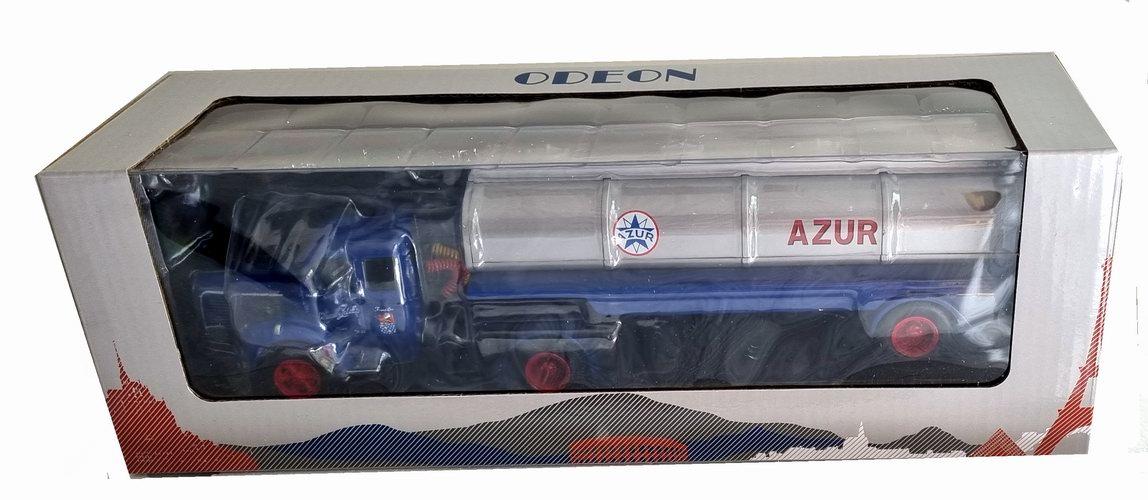 Miniature camion BERLIET TLM SEMI-REMORQUE Citerne Azur