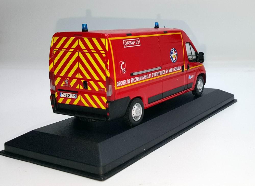 Miniature PEUGEOT Boxer Sapeurs Pompiers GRIMP SDIS 62