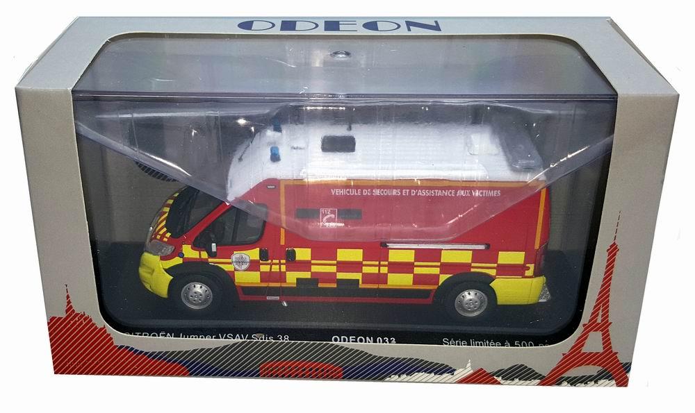 Miniature CITROEN Jumper Pompiers VSAV SDIS 38 1/43