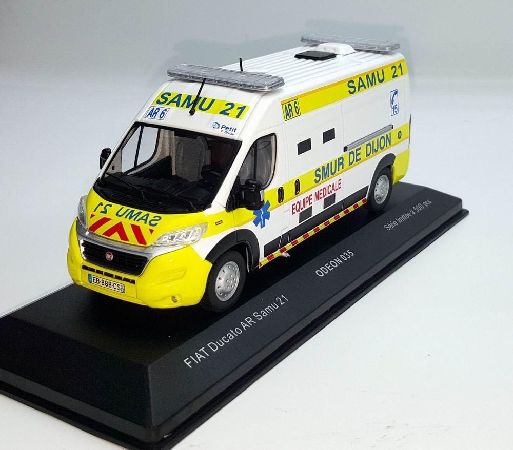 Miniature Ambulance FIAT Ducato SAMU 21 SMUR De Dijon 1/43 Odeon