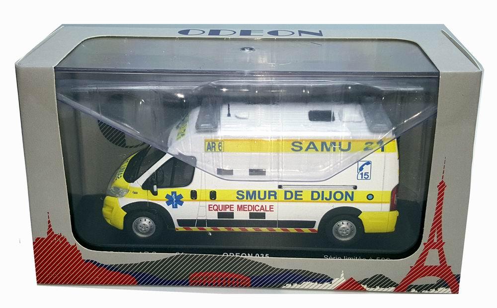 Miniature Ambulence FIAT Ducato SAMU 21 SMUR De Dijon 1/43 Alarme