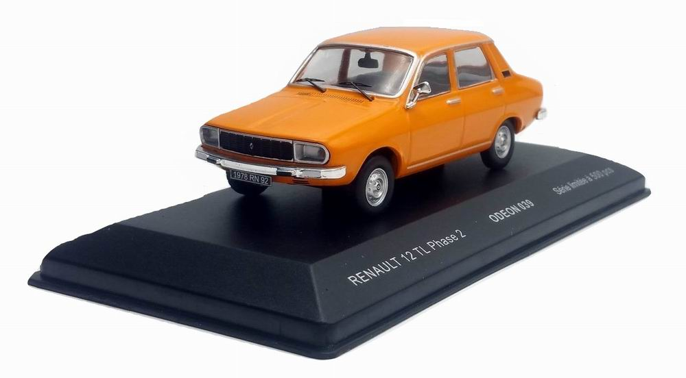 Voiture Miniature Renault 12 TL Phase 2 Orange 1/43