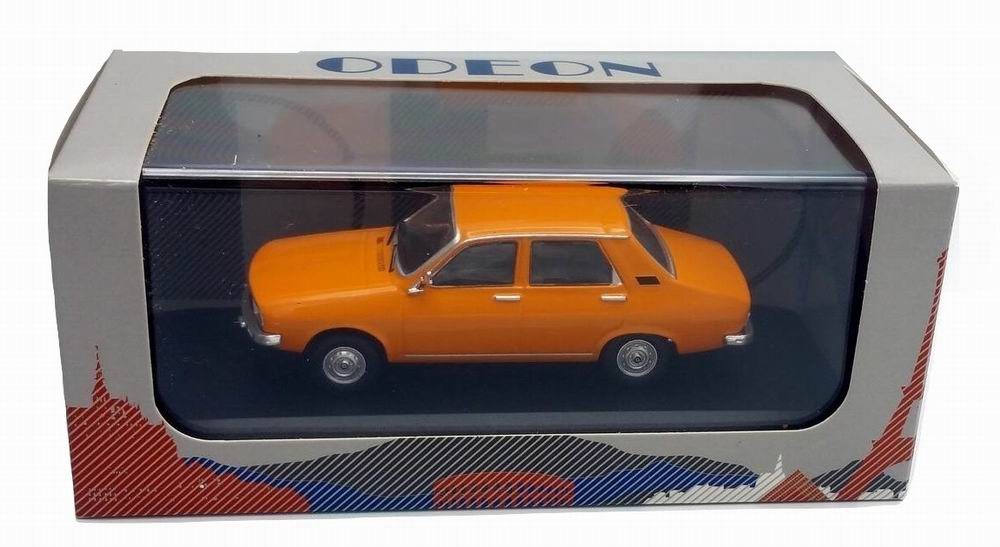 Petite voiture renault r12 tl orange restylée 1/43