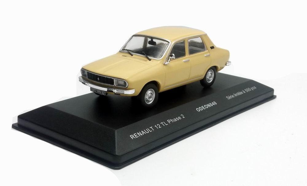 Voiture Miniature Renault 12 TL Phase 2 Beige 1/43