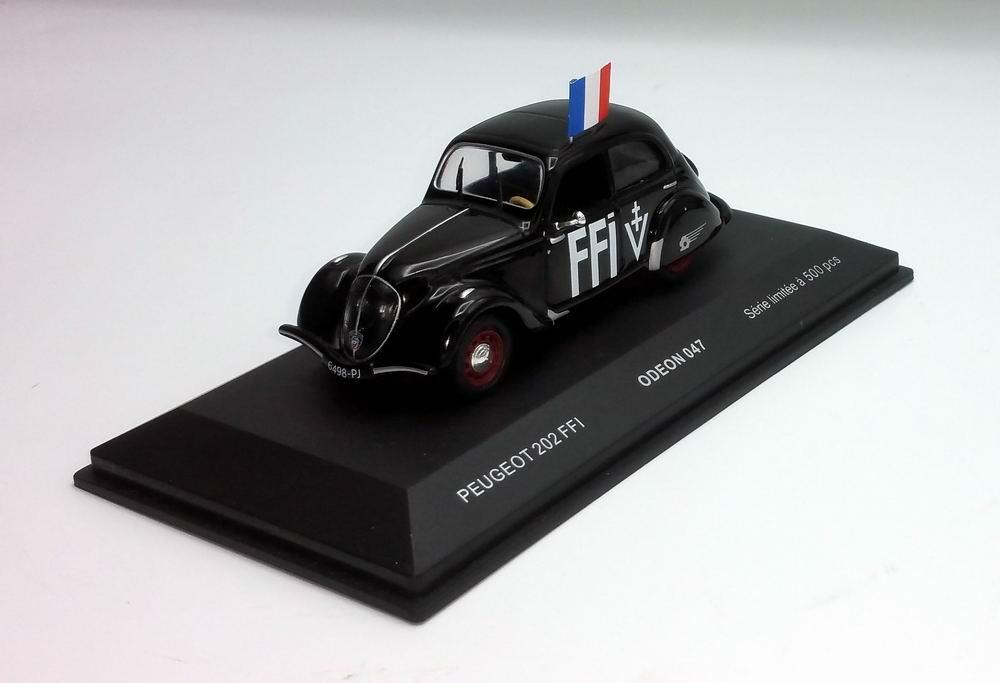 Voiture Miniature Peugeot 202 FFI 1/43