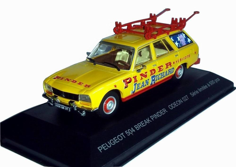 Voiture miniature PEUGEOT 504 BREAK Pinder 1/43
