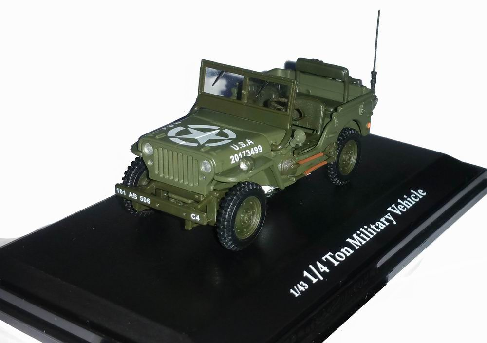 Voiture Jeep Willys Ouverte Militaire US ARMY D-DAY 6 Juin 1944 Oliex 1/43
