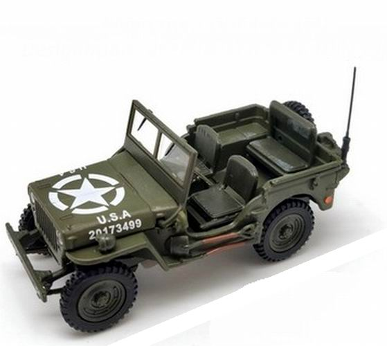 Voiture Jeep Wyllis Ouverte Militaire US ARMY D-DAY 6 Juin 1944 Oliex 1/43