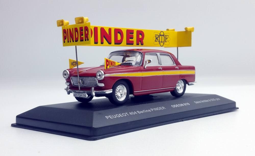 Voiture miniature PEUGEOT 404 Berline Pinder ORTF 1/43