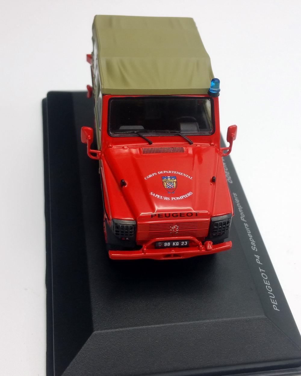 Miniature Peugeot P4 Sapeurs Pompiers 1/43 Odeon