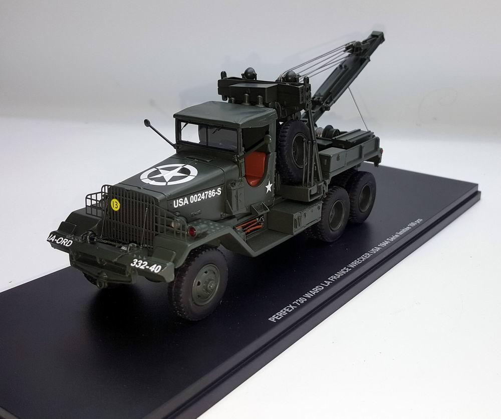 Miniature camion  WARD LAFRANCE DEPANNEUSE MILITAIRE US 1944 NORMANDIE 1/43