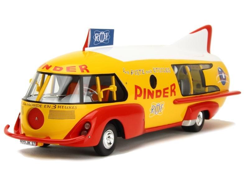 Miniature Camion cirque Pinder ORTF CITROEN TYPE 55 CAMION FUSEE La PISTE aux ETOILES 1/43