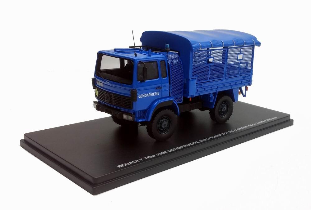 Miniature Camion RENAULT TRM 2000 MO GENDARMERIE Transport de troupes 1/43