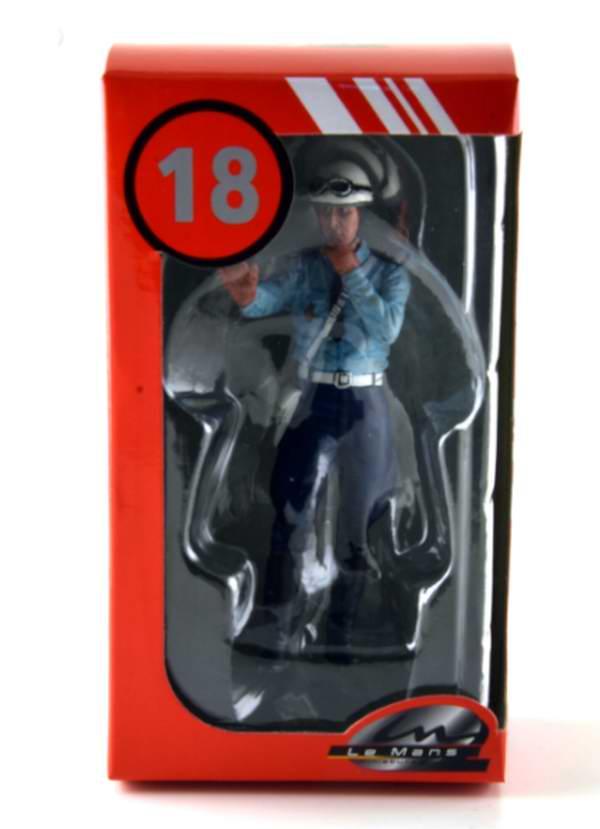 Figurine 1/18 Paul Motard POLICE NATIONALE Policer motocycliste 1975 1980