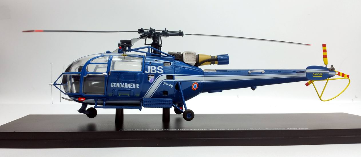 maquette Hélicoptère ALOUETTE 3 SA.316 Gendarmerie Nationale Immatriculé 1/43