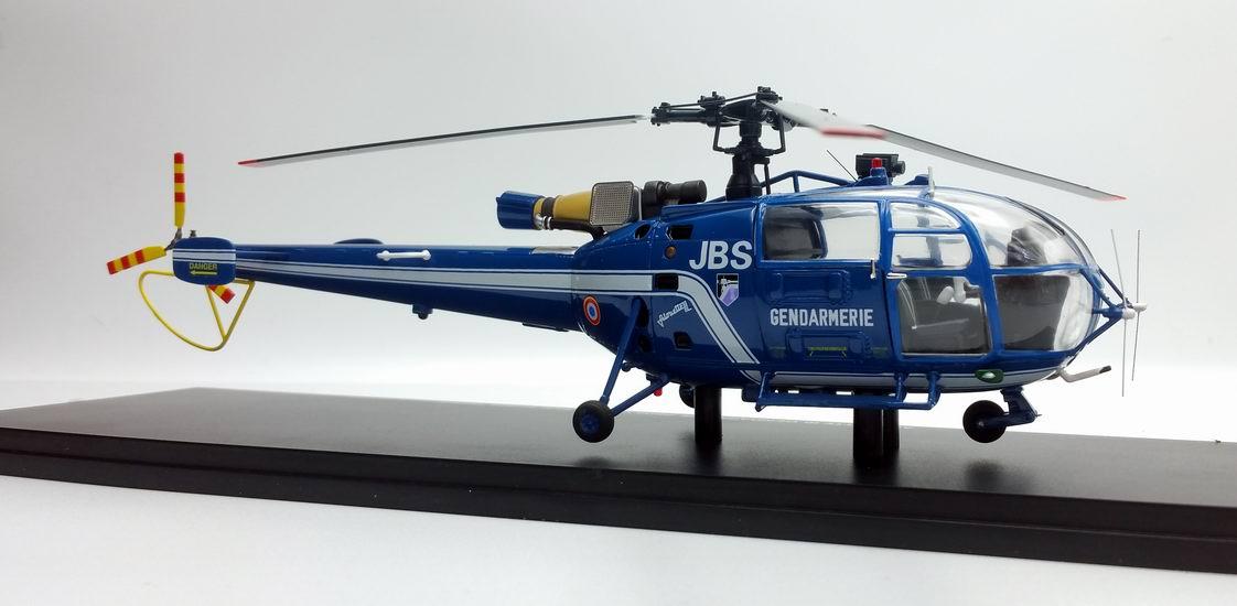 Modèle Hélicoptère ALOUETTE 3 SA316 Gendarmerie Nationale Immatriculé 1/43