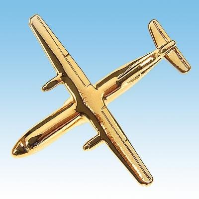 Pins avion ATR72 Doré à L'Or Fin 22K