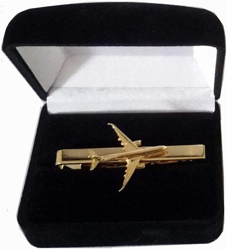 Pince à cravate Airbus A350 dorée