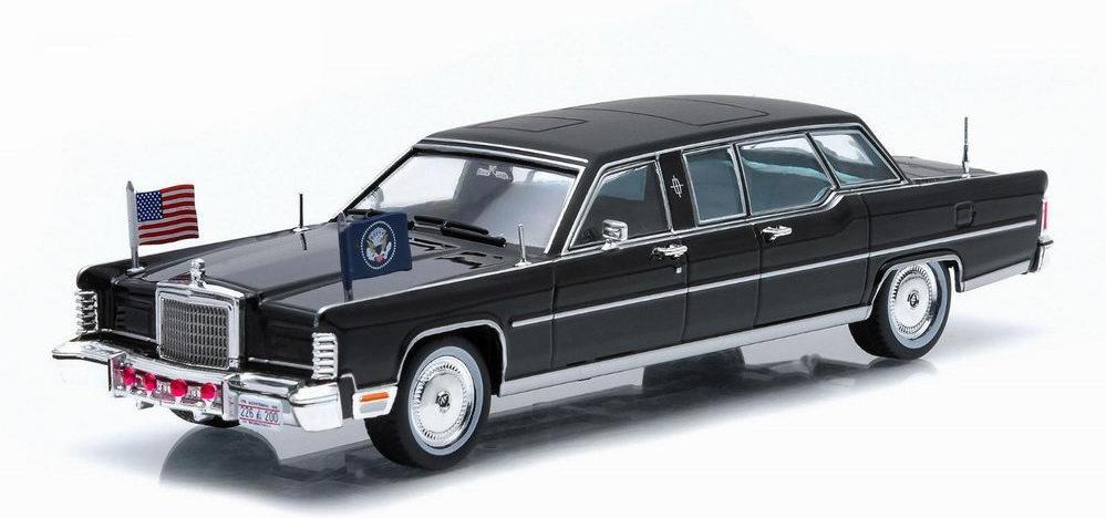 Limousine Lincoln Continental de 1972 Voiture Présidentielle Ronald Reagan 1/24