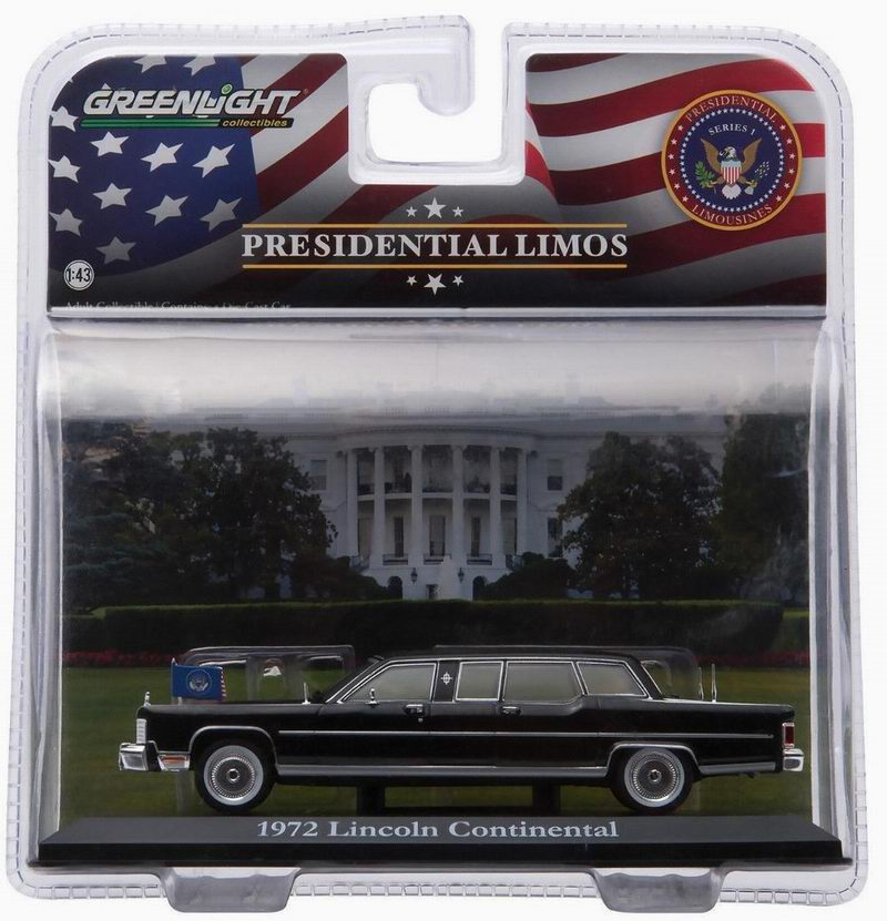 Limousine Lincoln Continental de 1972 Voiture Présidentielle Ronald Reagan 1/43