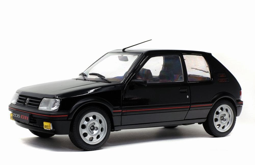Voiture Miniature PEUGEOT 205 GTI 1.9L MK 2 de 1990 Noir Onyx Solido 1/18