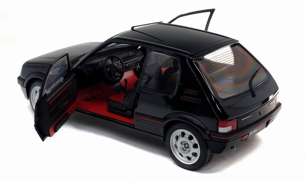 Voiture Miniature PEUGEOT 205GTI 1.9L MK 2 de 1990 Noir Onyxe Solido 1/18