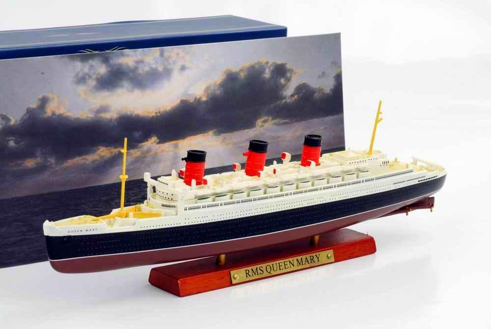 Maquette bateau Transatlantique RMS QUEEN MARY 1/1250