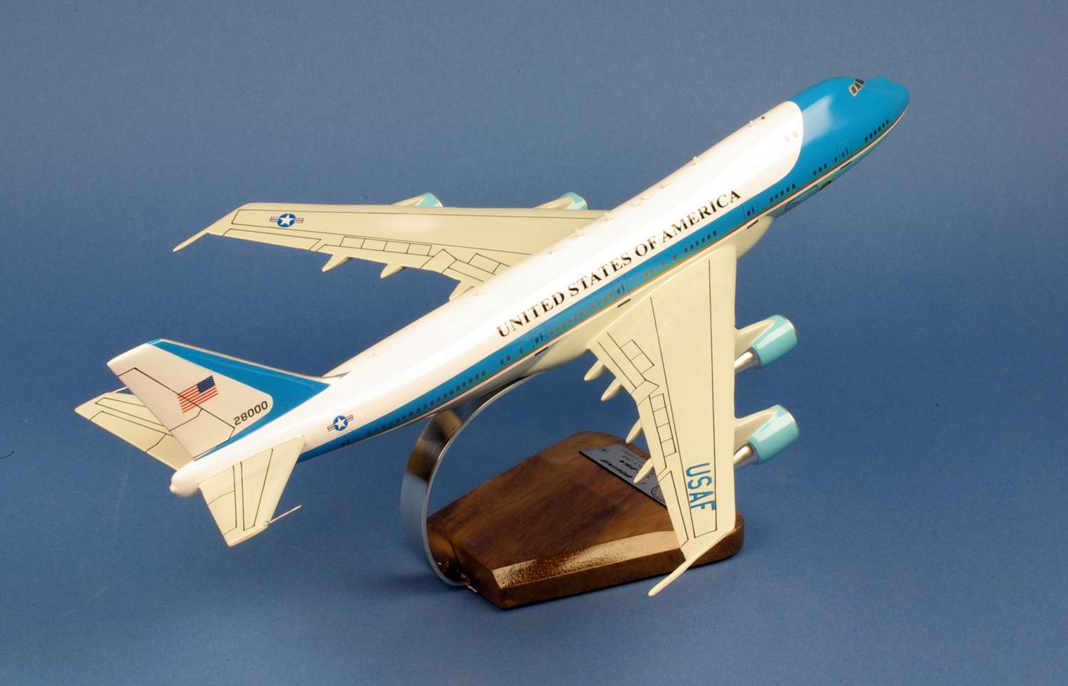 Maquette Avion BOEING 747 B747 VC-25A AIR FORCE ONE 28000