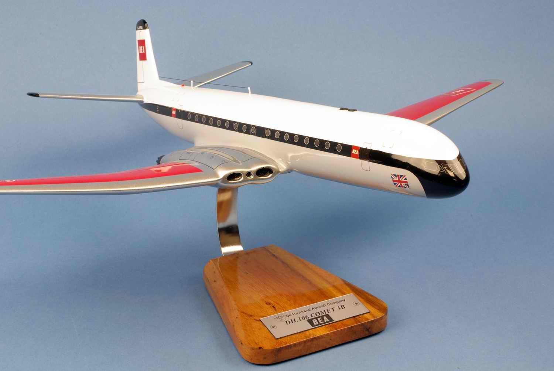 maquette avion DeHavilland DH106 Comet 4B British European Airways BEA