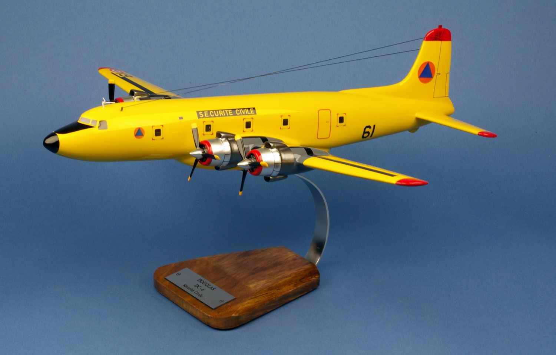maquette avion Douglas DC6b Pélican 61 Sécurité civile