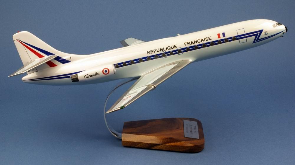 maquette avion Caravelle SE-210 III De Gaulle aux couleurs de la République Française