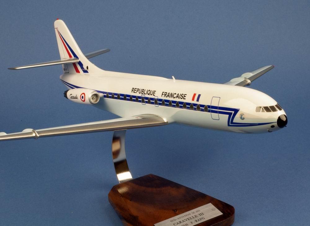 maquette avion Caravelle SE210 III De Gaulle aux couleurs de la République Française