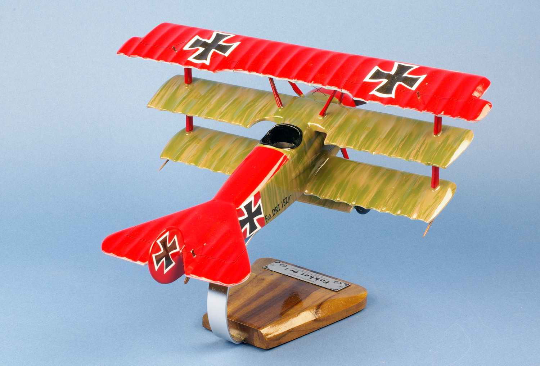 Maquette Fokker DR1 Baron Manfred Von Richthofen Baron Rouge