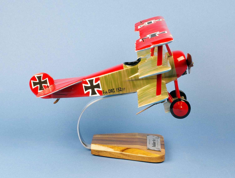 Maquette Fokker DR-1 Baron Manfred Von Richthofen Baron Rouge
