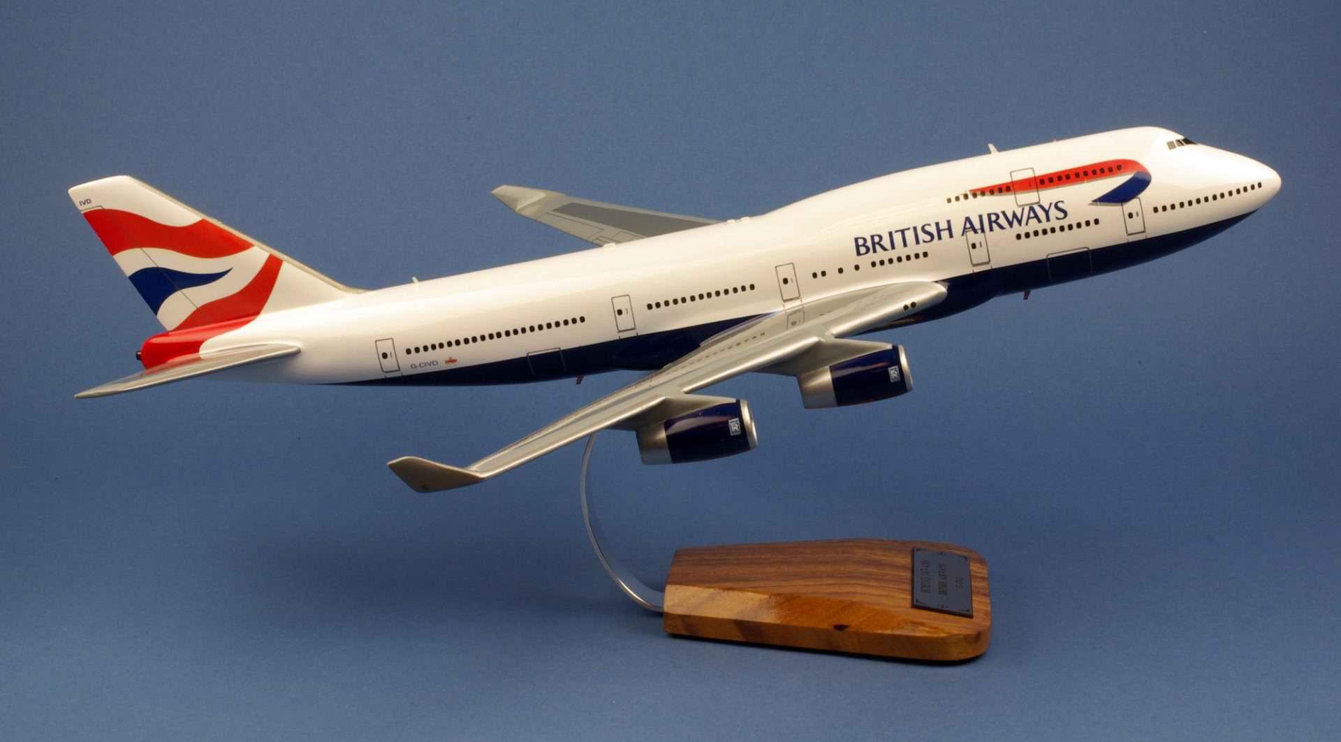 Maquette Avion BOEING 747-436 BRITISH AIRWAYS 1/144