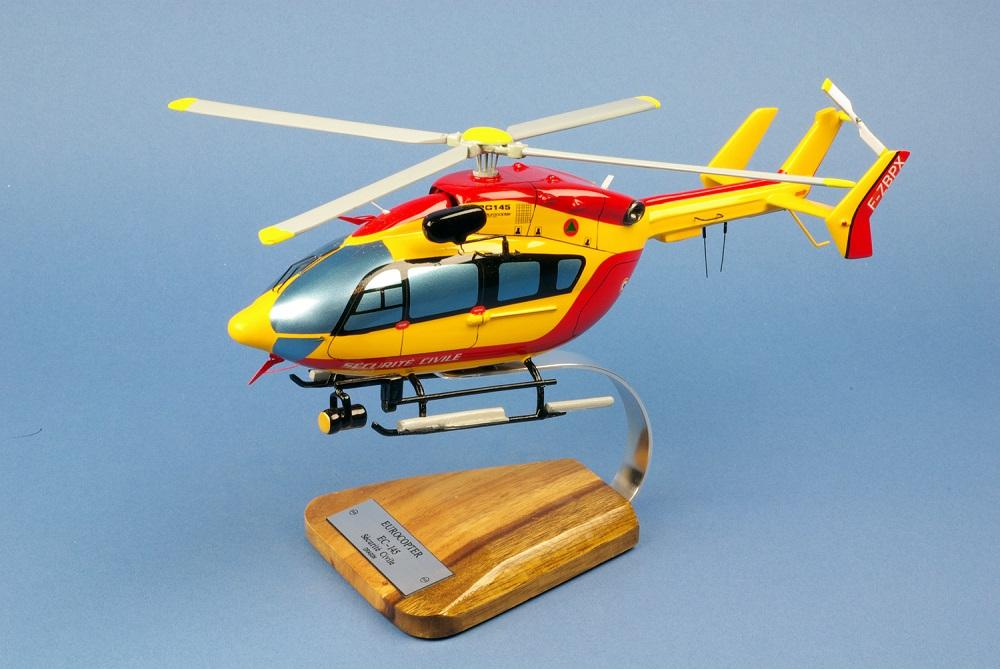 Maquette Hélicoptère EUROCOPTERE EC145 Dragon Sécurité Civile