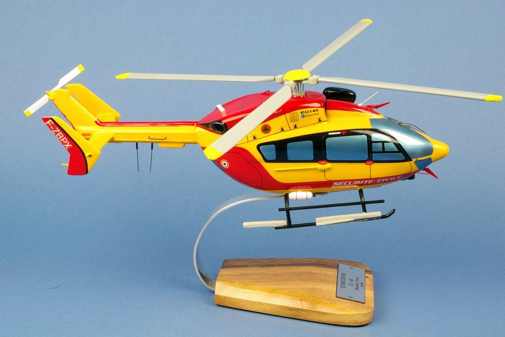 Maquette Hélicoptère EUROCOPTERE EC145 Dragon pompier Sécurité Civile