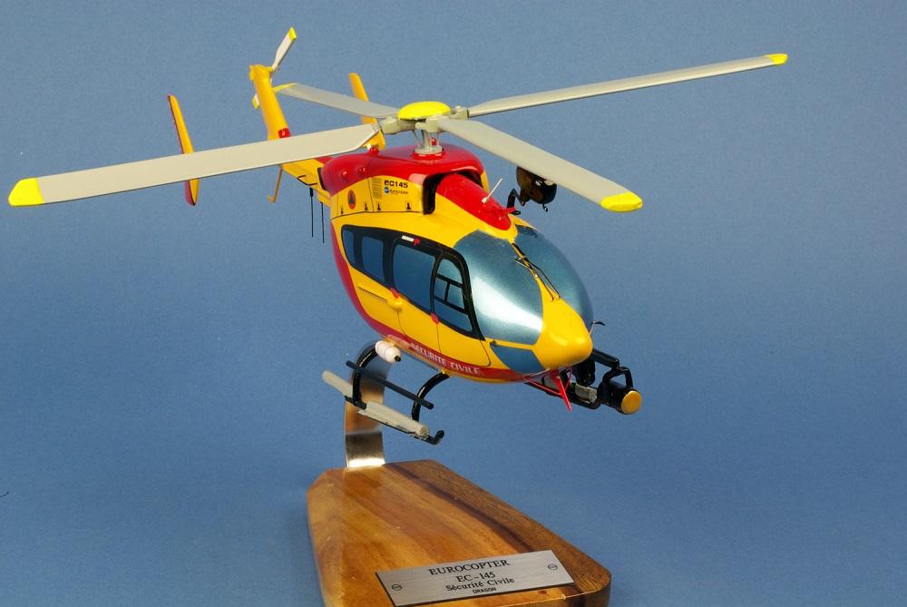 Maquette Hélicoptère EUROCOPTERE EC-145 Dragon Sécurité Civile
