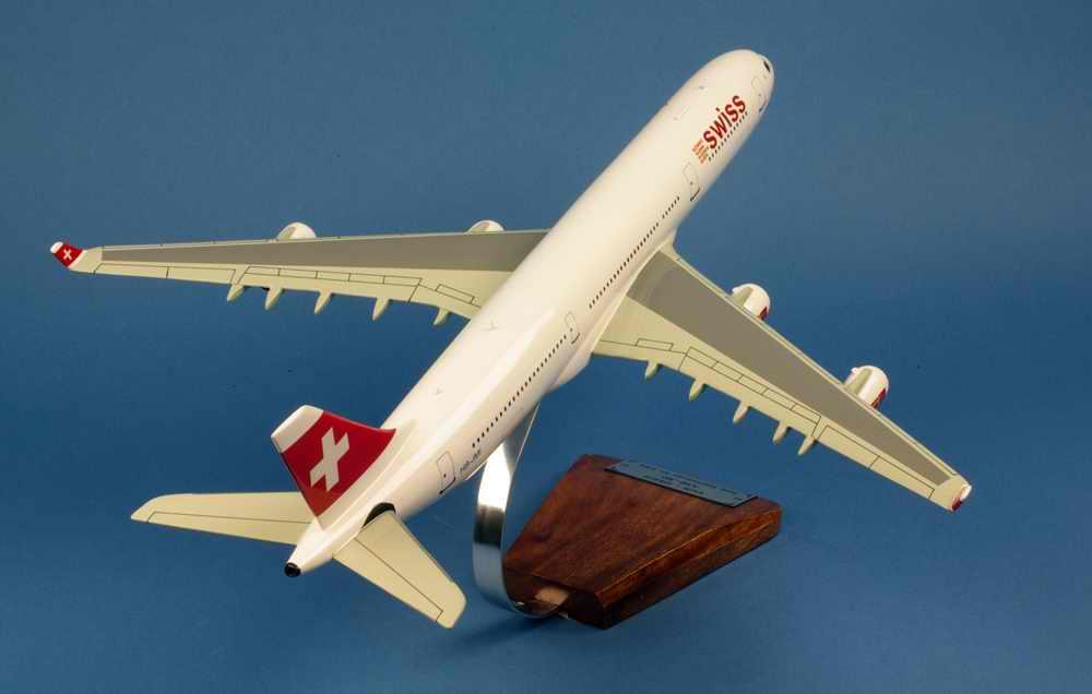 Maquette Avion AIRBUS A340 Swissair 1/125