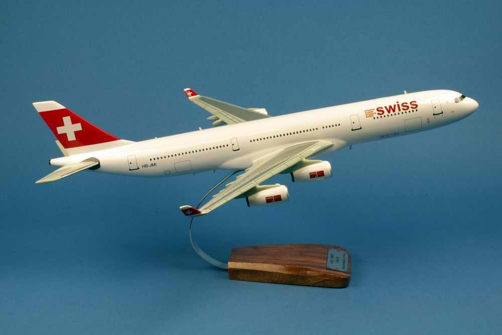 Maquette Avion AIRBUS A340 313X Swiss Air 1/125