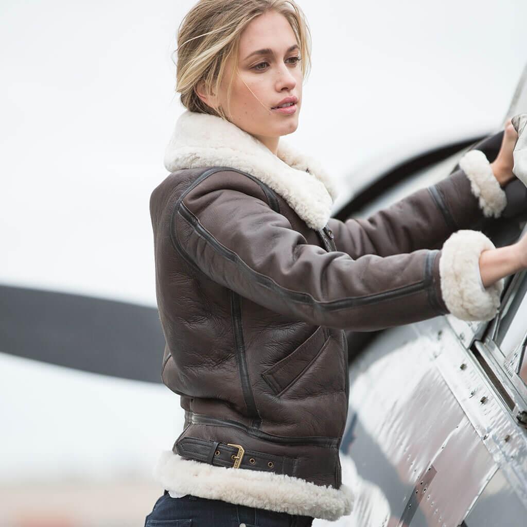 Blouson en cuir Bombardier B3 Femme COCKPIT - AVIREX