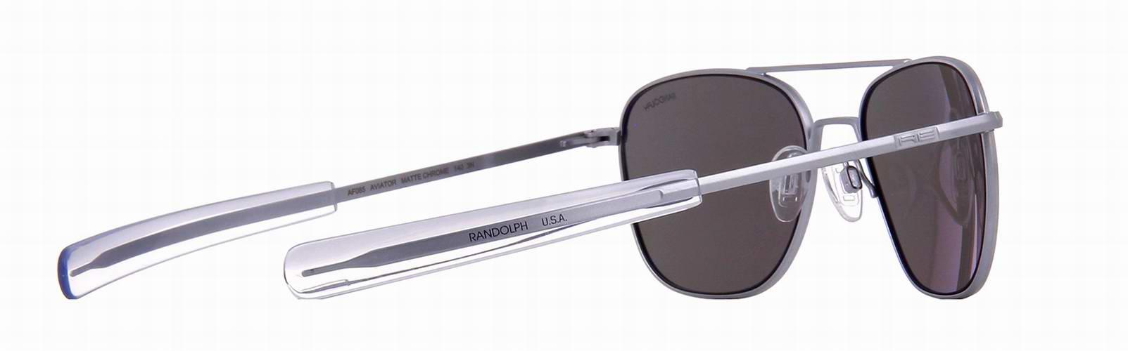 LUNETTES DE SOLEIL polarisé aviator monture gun métal  verre flash miroir Randolph