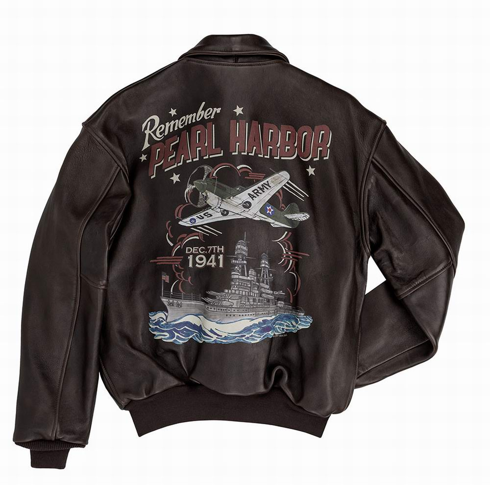 blouson cuir A2 Remember Pearl Harbor